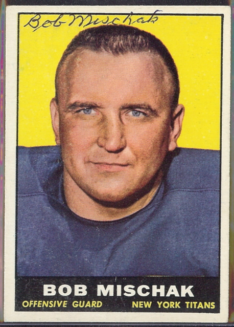 autographed 1961 topps bob mischak