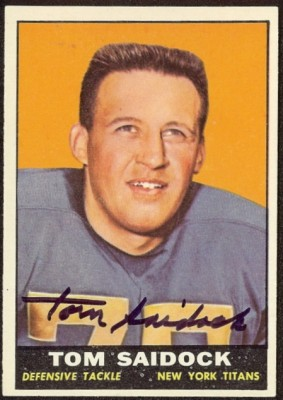 autographed 1961 topps tom saidock