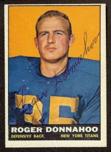 autographed 1961 topps roger donnahoo
