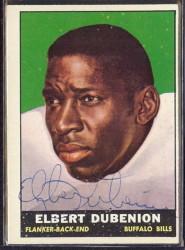 autographed 1961 topps elbert dubenion