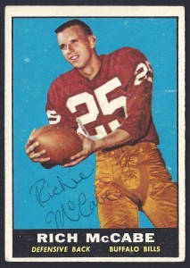 autographed 1961 topps richie mccabe