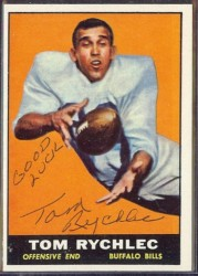autographed 1961 topps tom rychlec