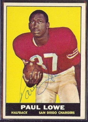 autographed 1961 topps paul lowe