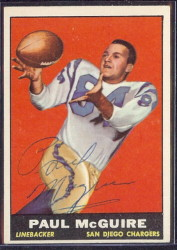 autographed 1961 topps paul maguire