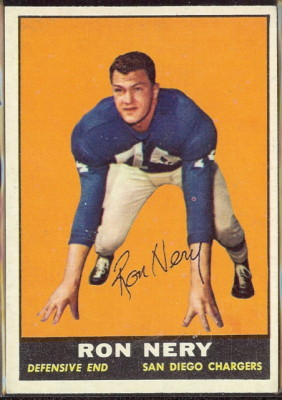 autographed 1961 topps ron nery