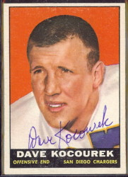 autographed 1961 topps dave kocourek
