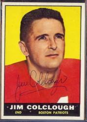 autographed 1961 topps jim colclough