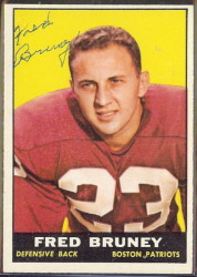 autographed 1961 topps fred bruney