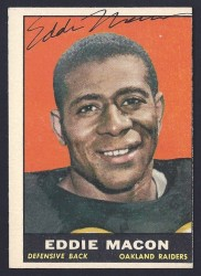autographed 1961 topps eddie macon
