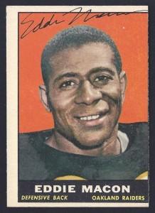 autographed 1961 topps eddie macon