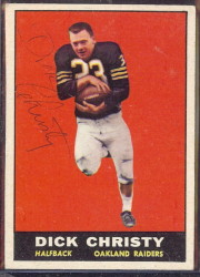 autographed 1961 topps dick christy