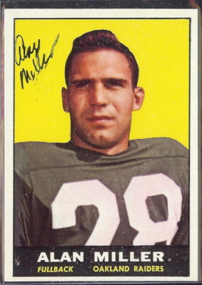 autographed 1961 topps alan miller