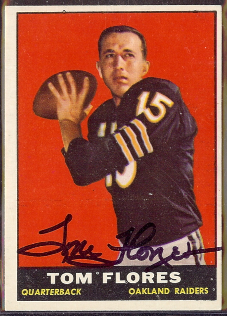autographed 1961 topps tom flores