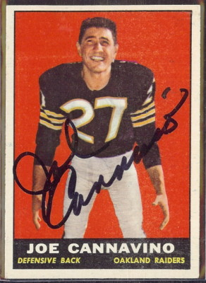 autographed 1961 topps joe cannavino
