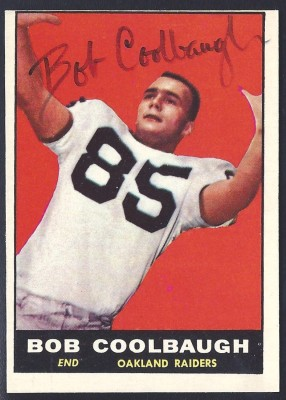 autographed 1961 topps bob coolbaugh