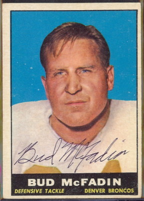 autographed 1961 topps bud mcfadin