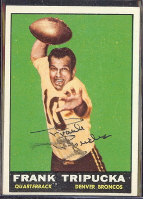 autographed 1961 topps frank tripucka