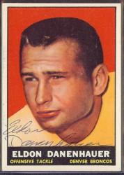 autographed 1961 topps eldon danenhauer