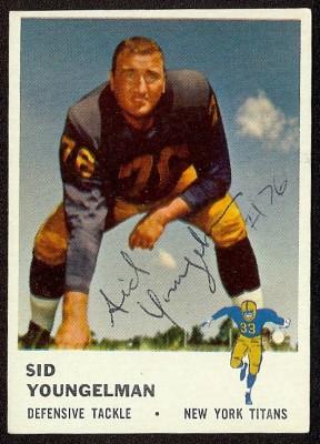 autographed 1961 fleer sid youngelman