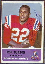 autographed 1962 fleer ron burton