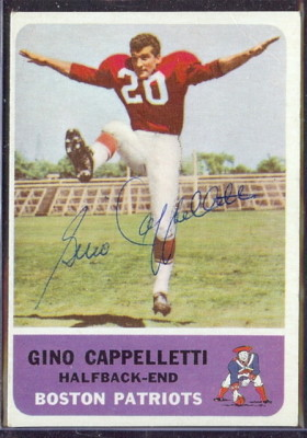 autographed 1962 fleer gino cappelletti