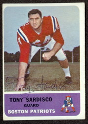 autographed 1962 fleer tony sardisco