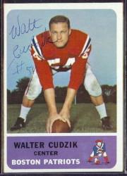 autographed 1962 fleer walt cudzik