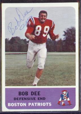 autographed 1962 fleer bob dee