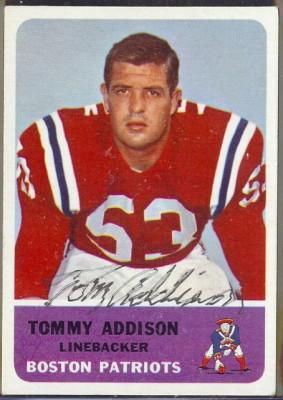 autographed 1962 fleer tom addison