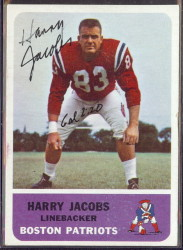 autographed 1962 fleer harry jacobs