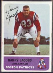 autographed 1962 fleer harry jacobs