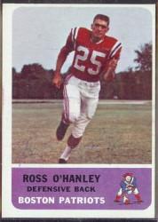 autographed 1962 fleer ross o'hanley