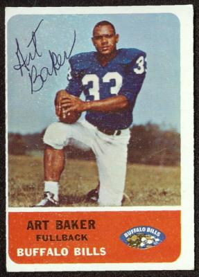 autographed 1962 fleer art baker