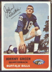 autographed 1962 fleer johnny green