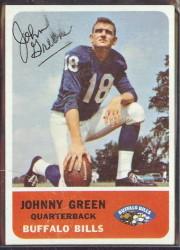 autographed 1962 fleer johnny green