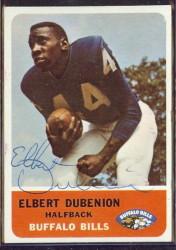 autographed 1962 fleer elbert dubenion