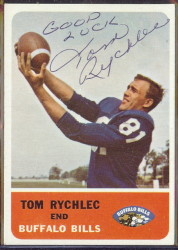 autographed 1962 fleer tom rychlec