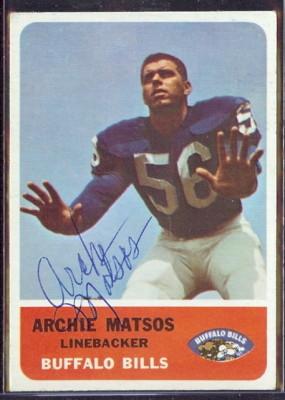 autographed 1962 fleer archie matsos