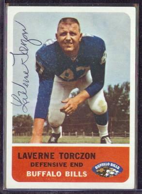 autographed 1962 fleer laverne torczon