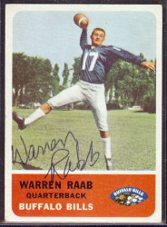 autographed 1962 fleer warren rabb