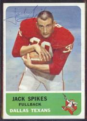 autographed 1962 fleer jack spikes