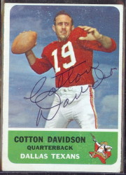 autographed 1962 fleer cotton davidson