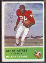 autographed 1962 fleer abner haynes