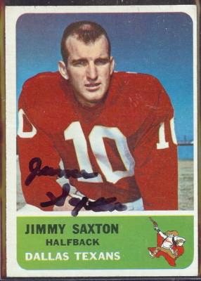 autographed 1962 fleer jimmy saxton
