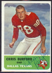 autographed 1962 fleer chris burford