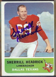 autographed 1962 fleer sherrill headrick