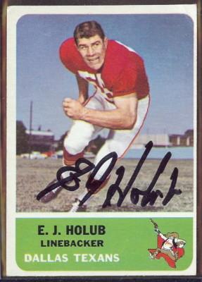 autographed 1962 fleer e.j. holub