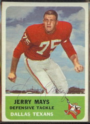 autographed 1962 fleer jerry mays