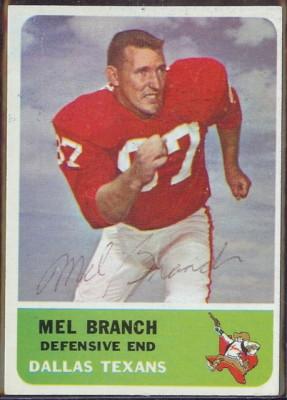 autographed 1962 fleer mel branch