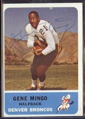 autographed 1962 fleer gene mingo